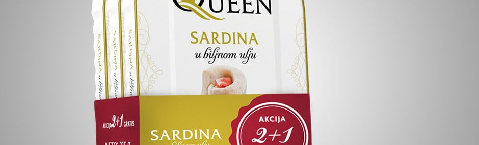 Special offer of AQ Sardines in vegetable oil 2+1 gratis